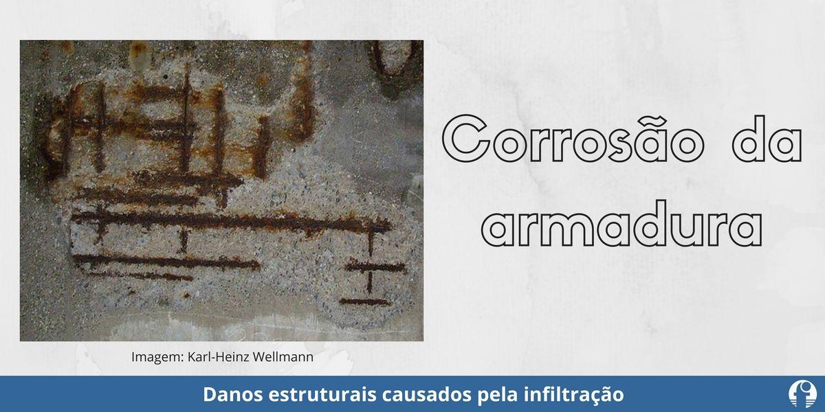 corrosão concreto armado danos estruturais da infiltração