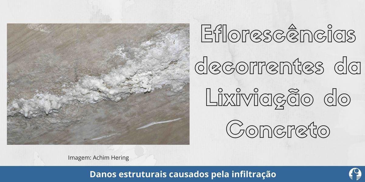 eflorescência lixiviação concreto armado danos estruturais da infiltração