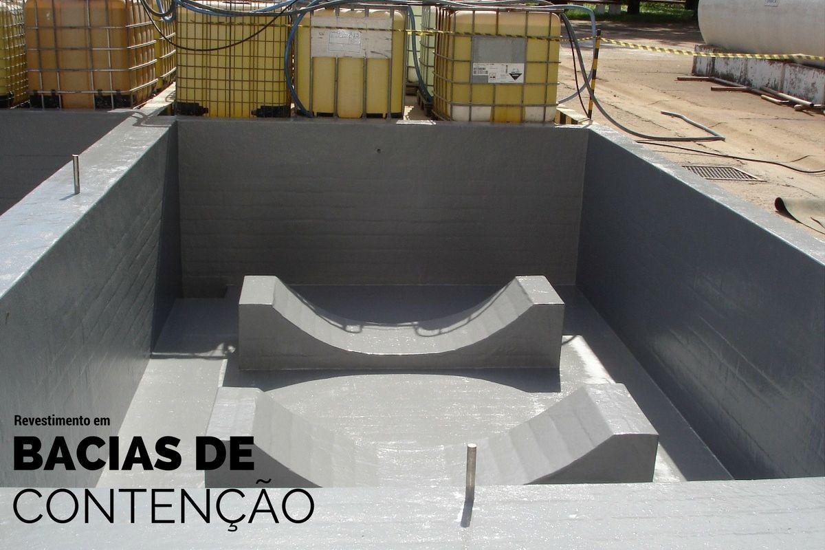 revestimento em bacia de contenção de produtos químicos para indústria