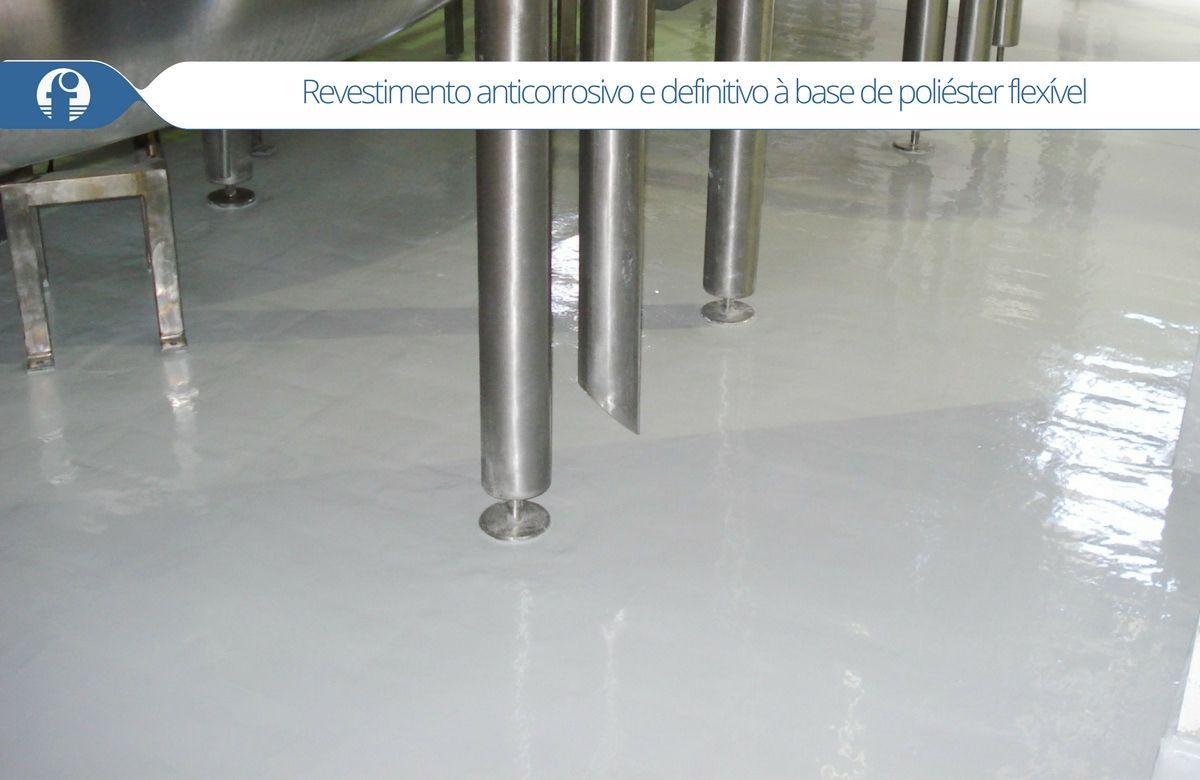 revestimento anticorrosivo e definitivo para piso industrial