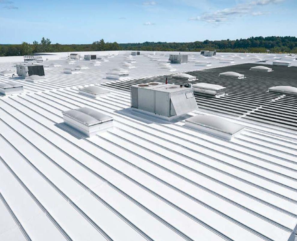 Impermeabilização de telhado com silicone