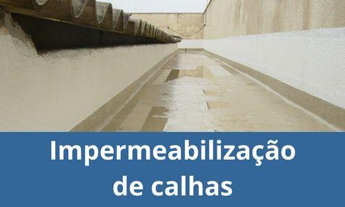 Impermeabilização de calhas