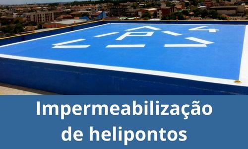 Impermeabilização de helipontos