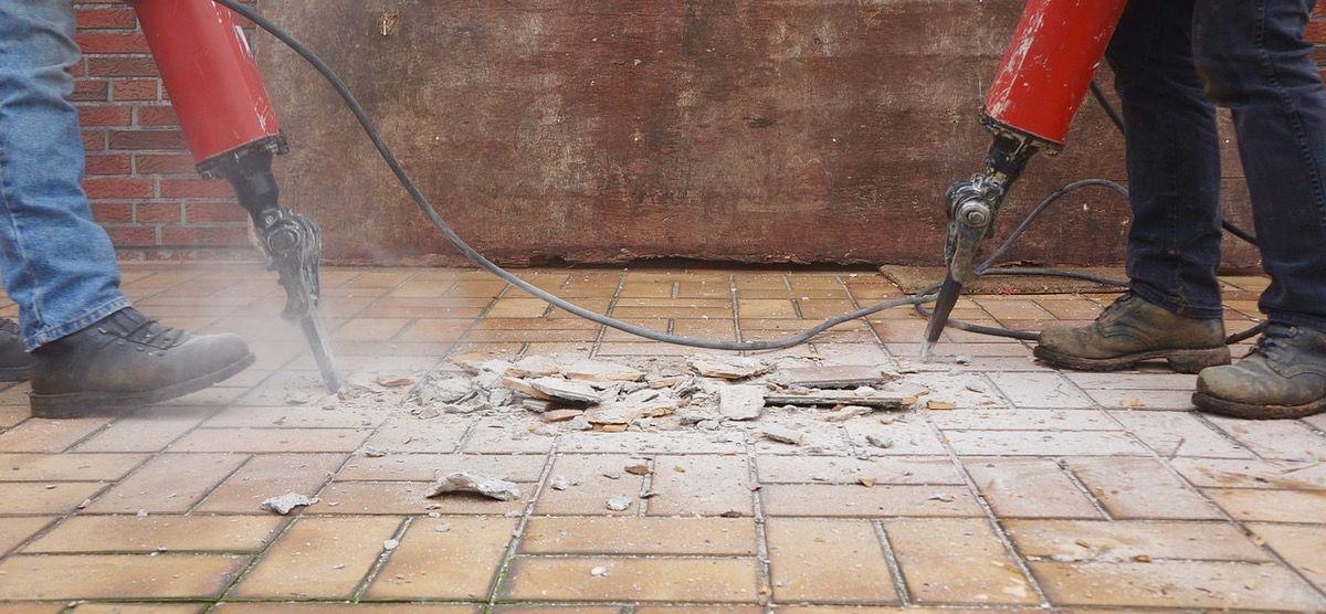 reforma de impermeabilização quebrar o piso