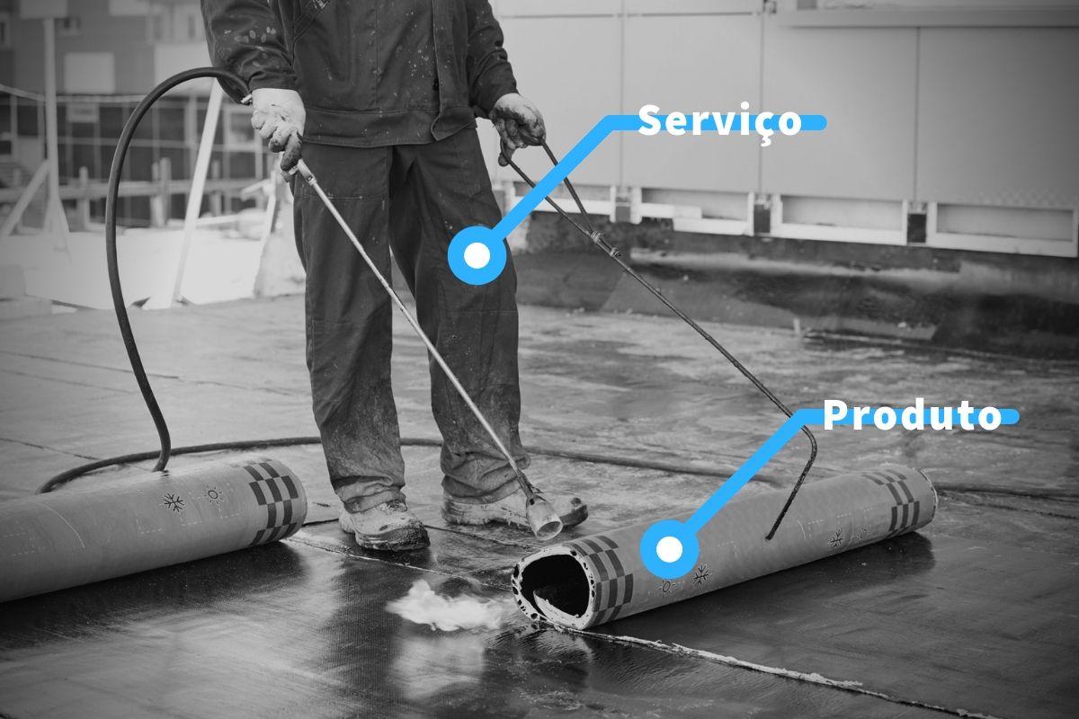 serviço de impermeabilização e produto impermeabilizante são diferentes