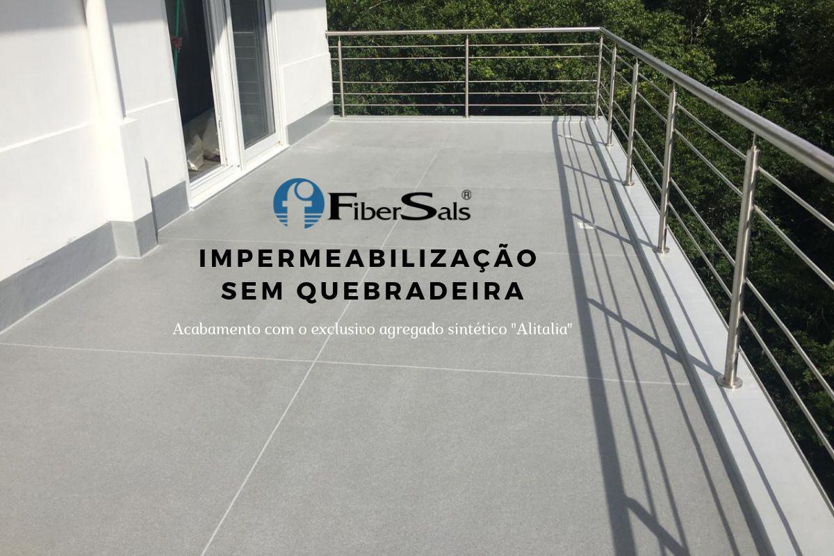 impermeabilização sem quebradeira fibersals poliéster flexível piso sobre piso
