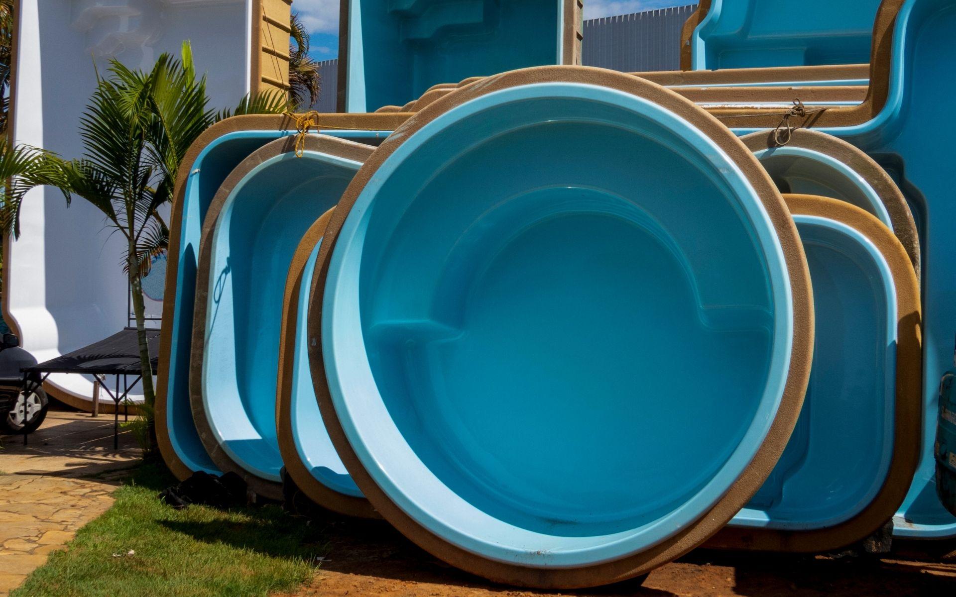 piscinas pré-fabricadas impermeabilização com vinil